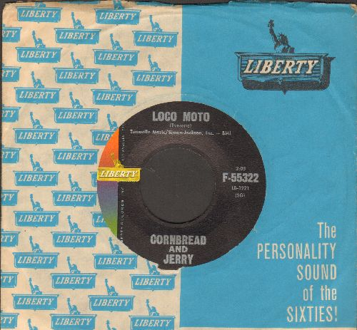 Cornbread & Jerry - Loco Moto/Lil' Ole Me (with vintage Liberty company sleeve) - NM9/ - 45 rpm Records