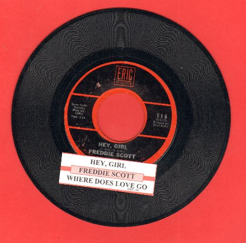 Scott, Freddie - Hey, Girl/Where Does Love Go (double-hit re-issue with juke box label) - EX8/ - 45 rpm Records