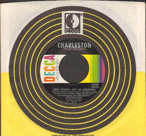 Condon, Eddie - Charleston/Black Bottom (FANTASTIC 1950 recordings of the Classic Flapper Tunes, featuring Jazz Vocals by Peggy Ann Ellis) (with Decca company sleeve) - EX8/ - 45 rpm Records