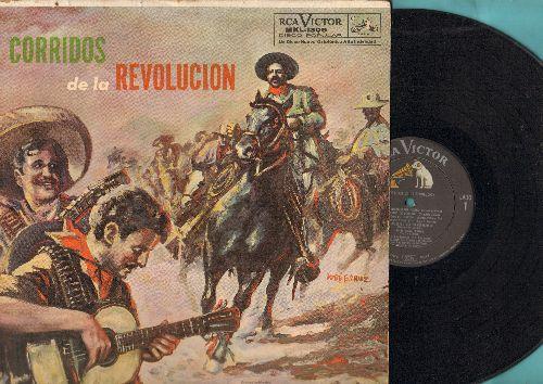 Corridos De La Revolution - Corridos De la Revolution: El Centuro Del Norte, El Siete Leguas,El Mayor De Los Dorados, La Tumba De Villa (vinyl MONO LP record, 1959 first pressing) - NM9/VG6 - LP Records