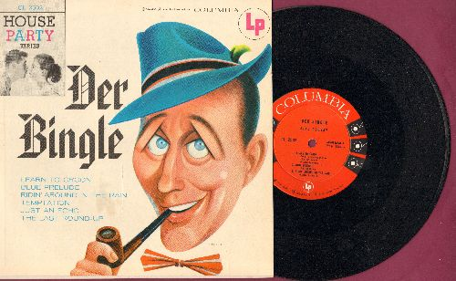 Crosby, Bing - Der Bingle: Learn To Croon/Blue Prelude/Ridin' Around In The rain/Temptation/Just An Echo/The Last Round-Up (10 inch LP record with picture cover) - NM9/NM9 - LP Records