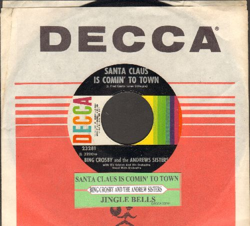 Crosby, Bing - Silent Night/Adeste Fideles (multi-color 1960s pressing with juke box label) - VG7/ - 45 rpm Records