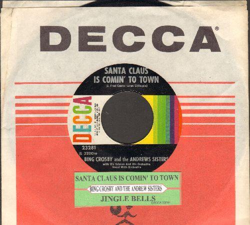 Crosby, Bing - Silent Night/Adeste Fideles (multi-color 1960s pressing with juke box label) - VG7/ - 45 rpm Records