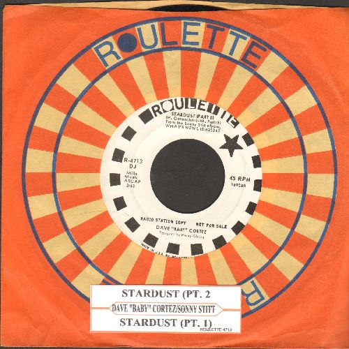 Cortez, Dave Baby & Sonny Stitt - Stardust (Parts 1 + 2) (DJ advance pressing with juke box label and Roulette company sleeve) - NM9/ - 45 rpm Records