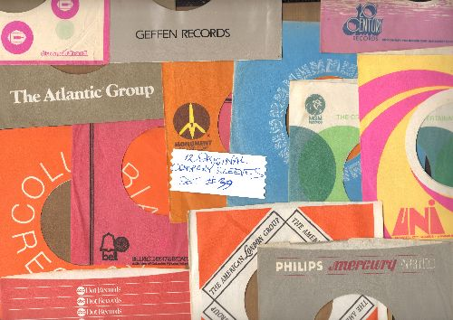 Company Sleeves - 12 Vintage Company Sleeves - Set #012-39 (exactly as pictured!) - Dress up your 7 inch vinyl records in original company sleeves of the 1960s & 70s. Excellent condition. - /EX8 - Supplies