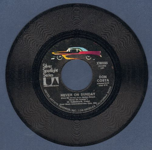 Costa, Don - Theme From The Unforgiven/Never On Sunday (double-hit re-issue) - NM9/ - 45 rpm Records