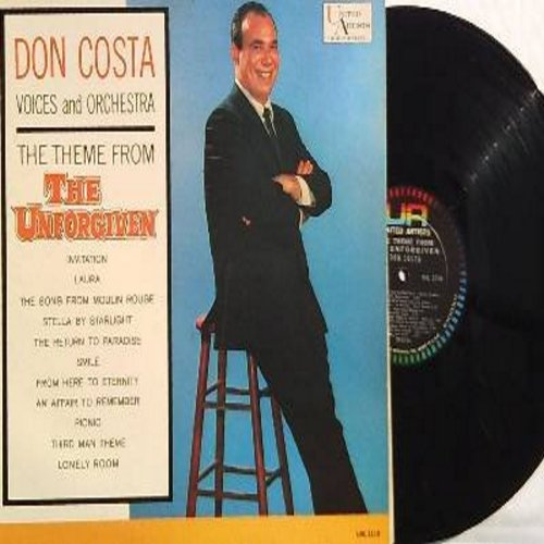 Costa, Don, Voices & Orchestra - Theme From The Unforgiven: Song From Moulin Rouge, Smile, An Affair To Remember, Third Man Theme, Laura, Picnic (Vinyl MONO LP record) - EX8/NM9 - LP Records