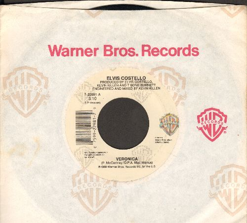 Costello, Elvis - Veronica/You're No Good (with Warner Brothers company sleeve) - NM9/ - 45 rpm Records