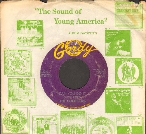 Contours - Can You Do It/I'll Stand By You (with Motown company sleeve) - VG7/ - 45 rpm Records