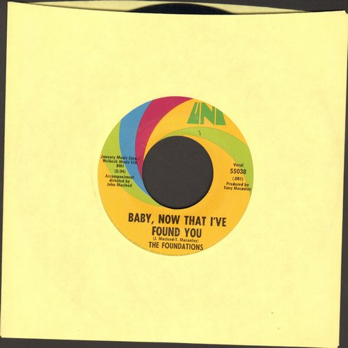 Foundations - Baby, Now That I've Found You/Come On Back To Me  - VG7/ - 45 rpm Records