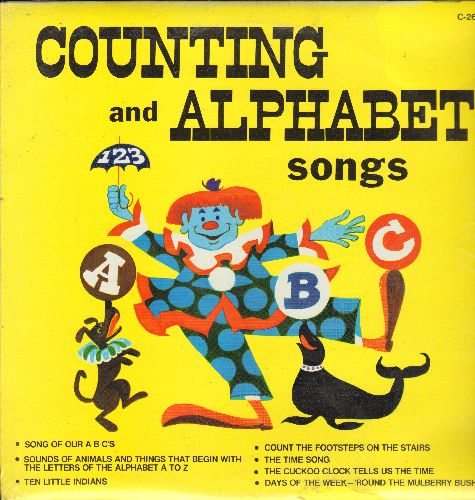 Counting And Alphabet Songs - Counting And Alphabet Songs: Song Of Our ABC's, The Time Song, Days Of The Week (Vinyl LP record, SEALED, never opened!) - SEALED/SEALED - LP Records