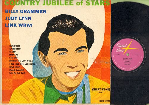 Grammer, Billy, Judy Lunn, Link Wray - Country Jubilee Of Stars: Teenage Cutie, Turn Me Loose, TV Baby, Sentenced By A Court Of Love (vinyl LP record) - EX8/VG7 - LP Records