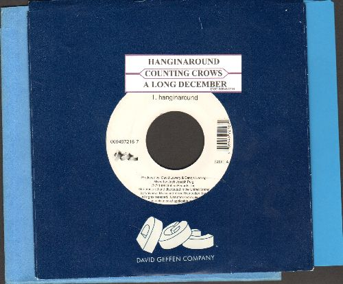Counting Crows - Hanginaround/A Long December (RARE Alternative Rock 2-sider with company sleeve and juke box label) - EX8/ - 45 rpm Records