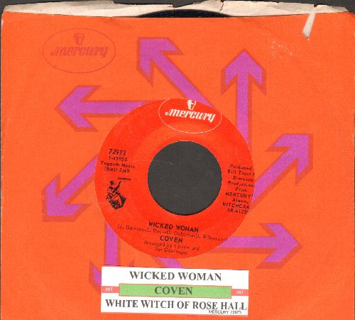 Coven - Wicket Woman/White Witch Of Rose Hall (with juke box label and Mercury company sleeve) - NM9/ - 45 rpm Records