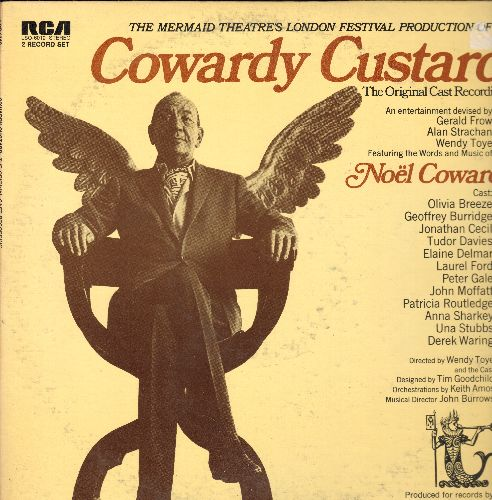 Coward, Noel - The Mermaid Theatre London Festival Production of Cowardy Custard - Original Cast Recording (2 vinyl STEREO LP record set, gate-fold cover) - NM9/EX8 - LP Records