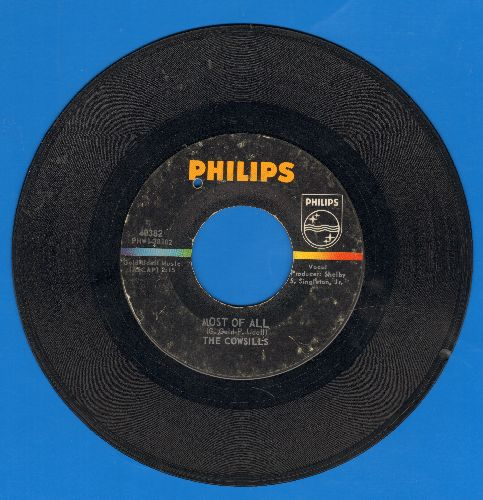 Cowsills - Most Of All/Siamese Cat (bb) - VG7/ - 45 rpm Records