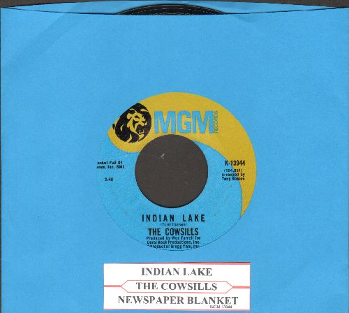 Cowsills - Indian Lake/Newspaper Blanket (light blue/gold label with juke box label) - NM9/ - 45 rpm Records