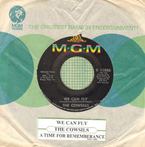Cowsills - We Can Fly (FANTASTIC Bubblegum Sound!)/A Time For Rememberance (with vintage MGM company sleeve and juke box label) - NM9/ - 45 rpm Records