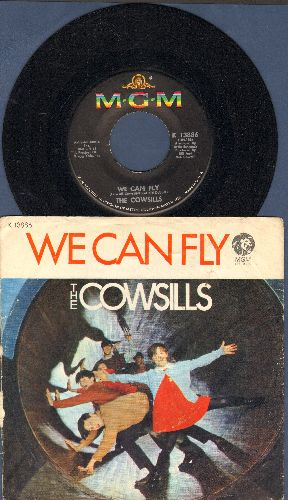 Cowsills - We Can Fly (FANTASTIC Bubblegum Sound!)/A Time For Rememberance (with picture sleeve) - NM9/VG6 - 45 rpm Records