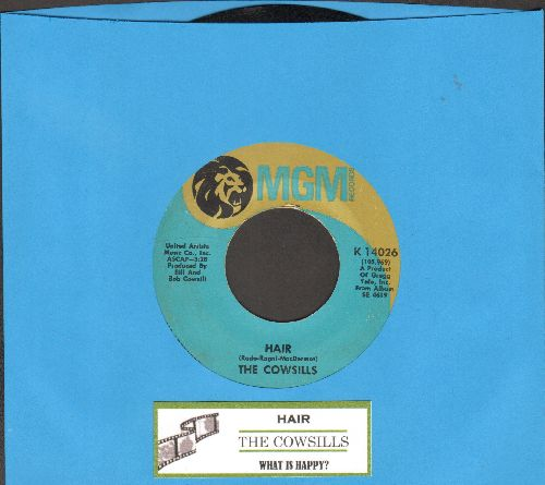 Cowsills - Hair/What Is Happy (with juke box label) - EX8/ - 45 rpm Records