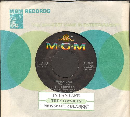Cowsills - Indian Lake/Newspaper Blanket (with juke box label and MGM company sleeve) - NM9/ - 45 rpm Records