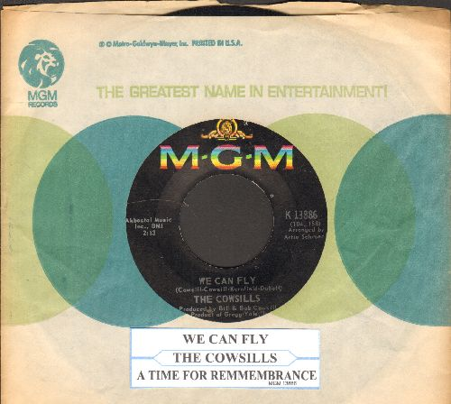 Cowsills - We Can Fly (FANTASTIC Bubblegum Sound!)/A Time For Rememberance (with vintage MGM company sleeve and juke box label) - VG7/ - 45 rpm Records