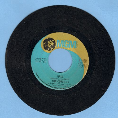 Cowsills - Hair/What Is Happy - VG7/ - 45 rpm Records