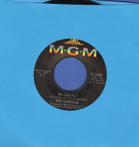 Cowsills - We Can Fly (FANTASTIC Bubblegum Sound!)/A Time For Rememberance  - EX8/ - 45 rpm Records