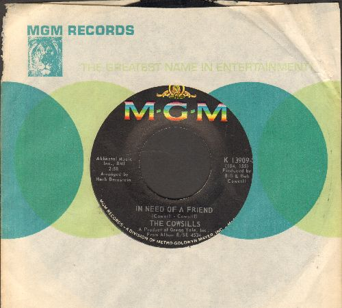 Cowsills - In Need Of A Friend/Mister Flynn (with MGM company sleeve) - EX8/ - 45 rpm Records