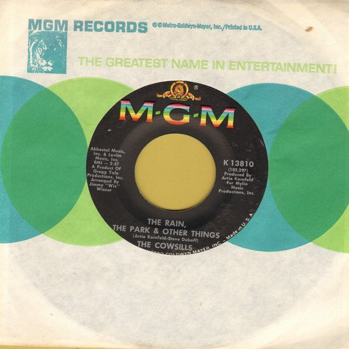 Cowsills - The Rain, The Park & Other Things (I Knew She Could Make Me Happy)/River Blue (with MGM company sleeve) - EX8/ - 45 rpm Records
