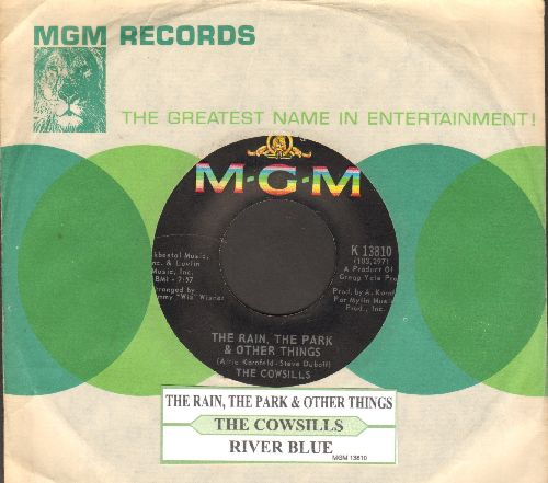Cowsills - The Rain, The Park & Other Things (I Knew She Could Make Me Happy)/River Blue (with juke box label and MGM company sleeve) - NM9/ - 45 rpm Records