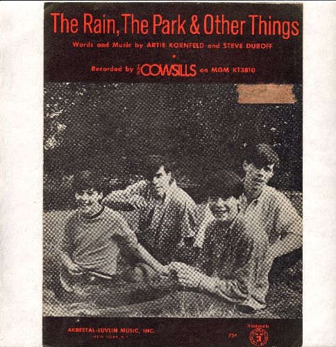 Cowsills - The Rain, The Park & Other Things (I Knew She Could Make Me Happy) - SHEET Music for the Classic Bubble Gum Hit (Nice cover picture!)  - EX8/ - 45 rpm Records