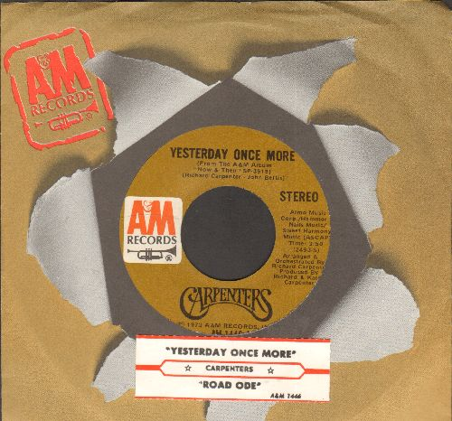 Carpenters - Yesterday Once More/Road Ode (with juke box label and company sleeve) - EX8/ - 45 rpm Records