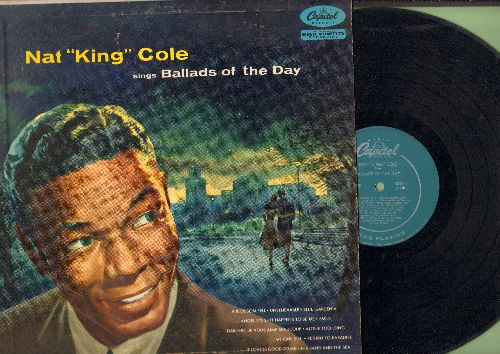 Cole, Nat King - Ballads Of The Day: Smile, Darling Je Vous Aime Beaucoup, Angel Eyes, Return To Paradise (vinyl MONO LP record) - EX8/VG7 - LP Records