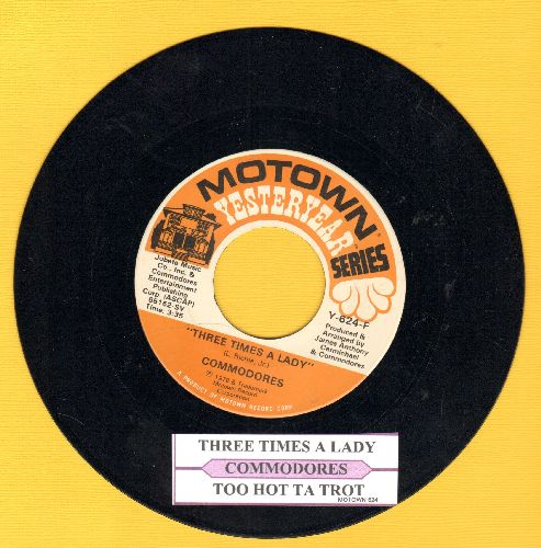 Commodores - Three Times A Lady/Too Hot Ta Trot (double-hir re-issue with juke box label) - NM9/ - 45 rpm Records