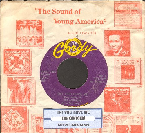 Contours - Do You Love Me/Move Mr. Man (with juke box label and Motown company sleeve) - EX8/ - 45 rpm Records