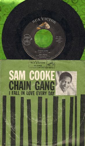 Cooke, Sam - Chain Gang/I Fall In Love Every Day (with picture sleeve) - EX8/VG7 - 45 rpm Records