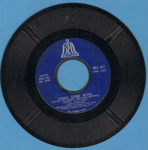 Crazy Elephant - Gimme Gimme Good Lovin'/Dark Part Of My Mind  - VG7/ - 45 rpm Records