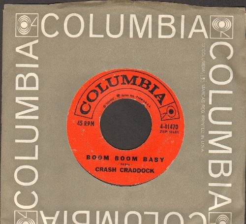 Craddock, Billy Crash - Boom Boom Baby/Don't Destroy Me (with Columbia company sleeve) - VG6/ - 45 rpm Records