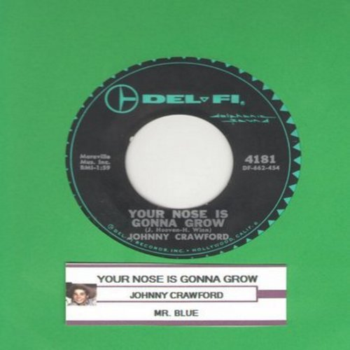 Crawford, Johnny - Your Nose Is Gonna Grow/Mr. Blue - EX8/ - 45 rpm Records