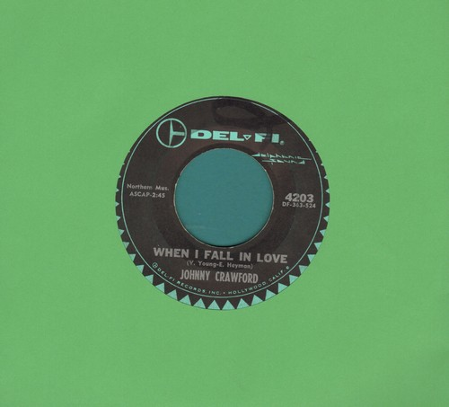 Crawford, Johnny - When I Fall In Love/Cry On My Shoulder  - EX8/ - 45 rpm Records