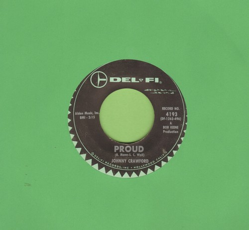 Crawford, Johnny - Proud/Lonesome Town - EX8/ - 45 rpm Records