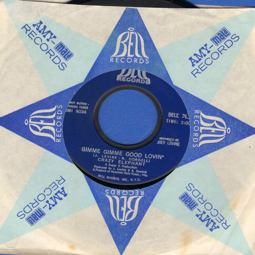 Crazy Elephant - Gimme Gimme Good Lovin'/Dark Part Of My Mind (with vintage Bell company sleeve) (bb) - NM9/ - 45 rpm Records