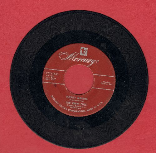 Crew-Cuts - Mostly Martha/Angels In The Sky (burgundy label) - VG6/ - 45 rpm Records