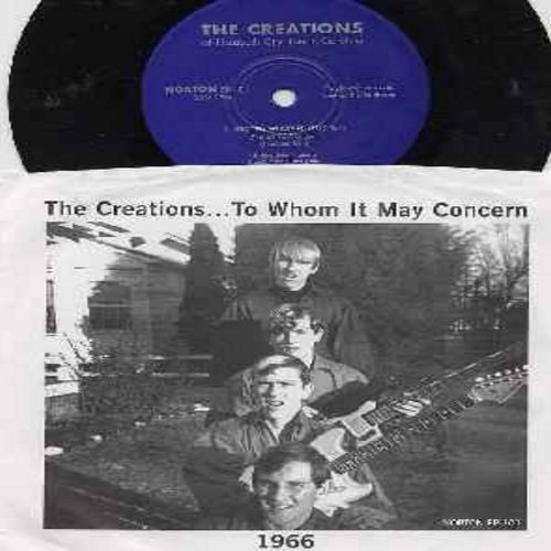 Creations - Better Watch Out/I'm Mad/Soul And Feeling (Vinyl 7 inch 33rpm Mini-LP with picture sleeve, re-issue of RARE Vintage Garage Band Recordings) - NM9/EX8 - 45 rpm Records