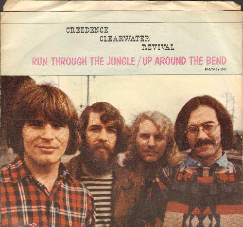 Creedence Clearwater Revival - Run Through The Jungle/Up Around The Bend (with picture sleeve) - EX8/VG7 - 45 rpm Records