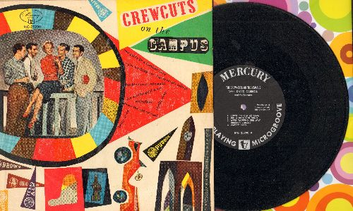 Crew-Cuts - The Crew-Cuts On Campus: Varsity Drag/Betty Co-Ed/Collegiate/You Gotta Be A Football Hero + 4 (10 inch 33rpm vinyl LP record with picture cover) - NM9/VG7 - LP Records