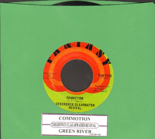 Creedence Clearwater Revival - Commotion/Green River (with juke box label) - EX8/ - 45 rpm Records