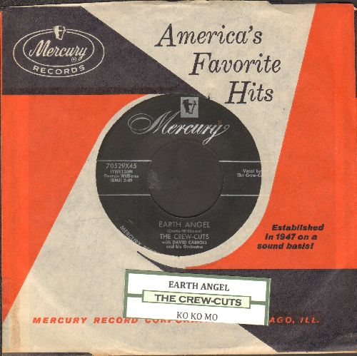 Crew-Cuts - Earth Angel/Ko Ko Mo (with juke box label and vintage Mercury company sleeve) - NM9/ - 45 rpm Records