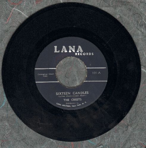 Crests - Sixteen Candles/Beside You (early re-issue) - VG7/ - 45 rpm Records